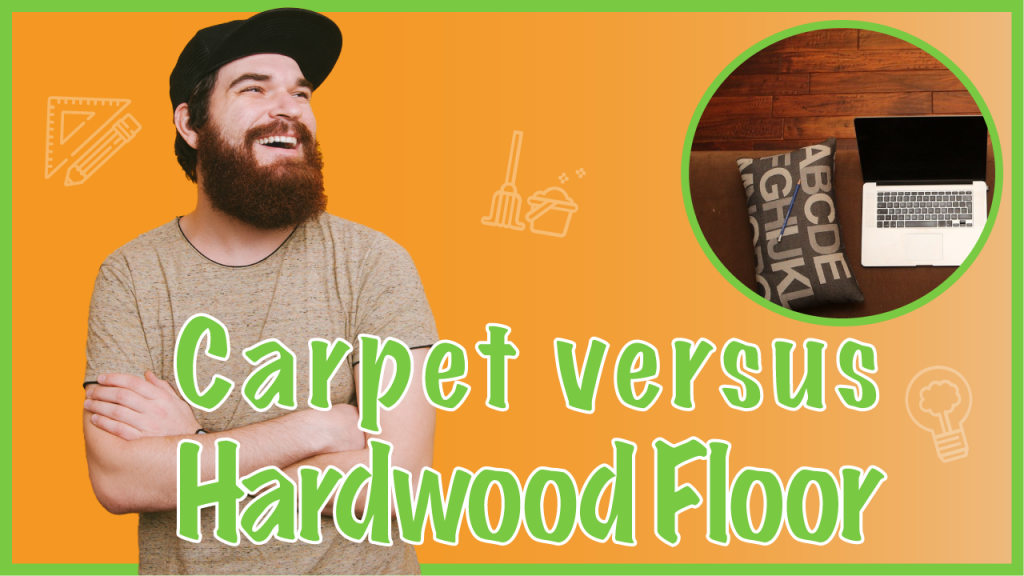 comparing hardwood and carpet floors