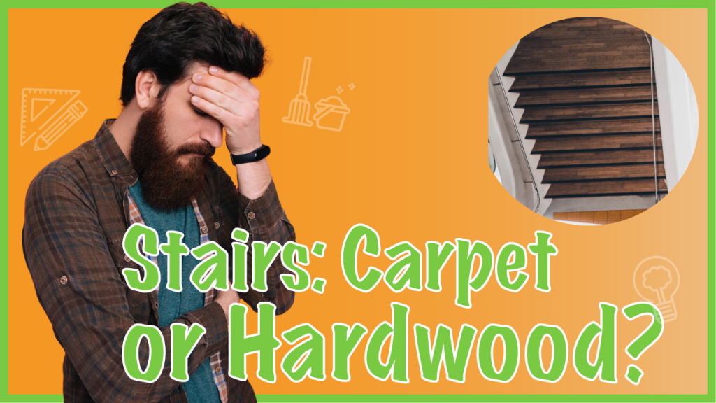 carpet or wood flooring on stairs