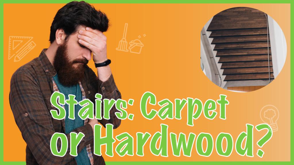carpet or wood flooring on stairs