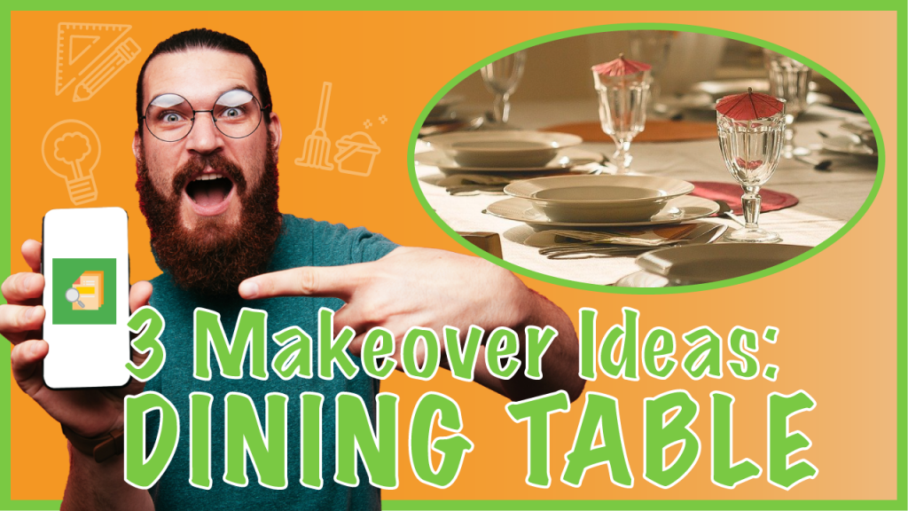 makeover dining table