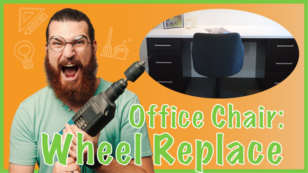 replace casters of office chair